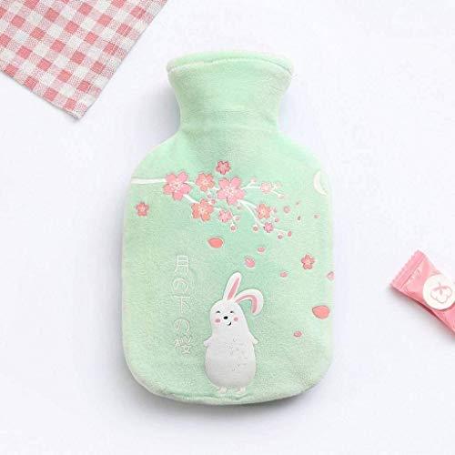 Hot Water tas met zachte fleece Cover, kleine draagbare Rubber heet waterfles geen lekken BPA gratis Perfect for koude dagen-A-350 ML Praktische kruik. (Color : H, Size : 350 ML)