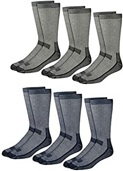 Kirkland Signature Outdoor Trail Socks Merino Wool Blend 6 Pairs Blue Gray Black Medium  Shoe Size 7-9.5