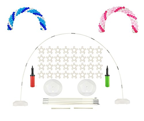 Large Balloon Arch Kit - 8FT Tall & 11Ft Wide Easy DIY Frame Base and Pole with e-Instruction - for Birthday, Wedding, Events, Party Decoration