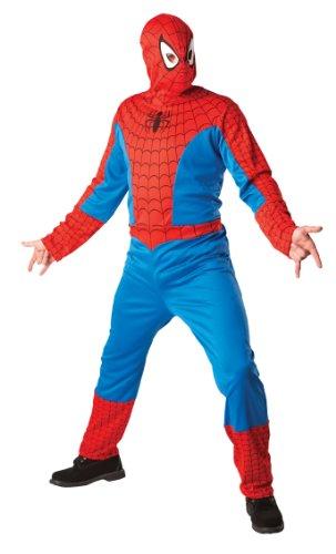 Generique - Déguisement Spider-Man Adulte avec Cagoule Taille L