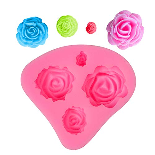 Chocolate Mould, Rose Flower Silicone Cake Mould, Sugar and Cake Decorating Tool