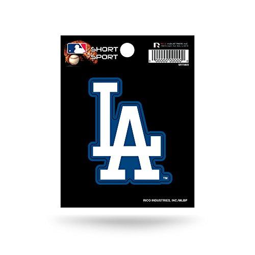 Rico Industries SRT5601 MLB Los Angeles Dodgers Short Sport Decal,White,3.5