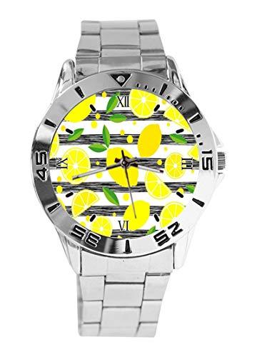 Reloj de Pulsera analógico de Cuarzo con diseño de Limones Decorativos, para...