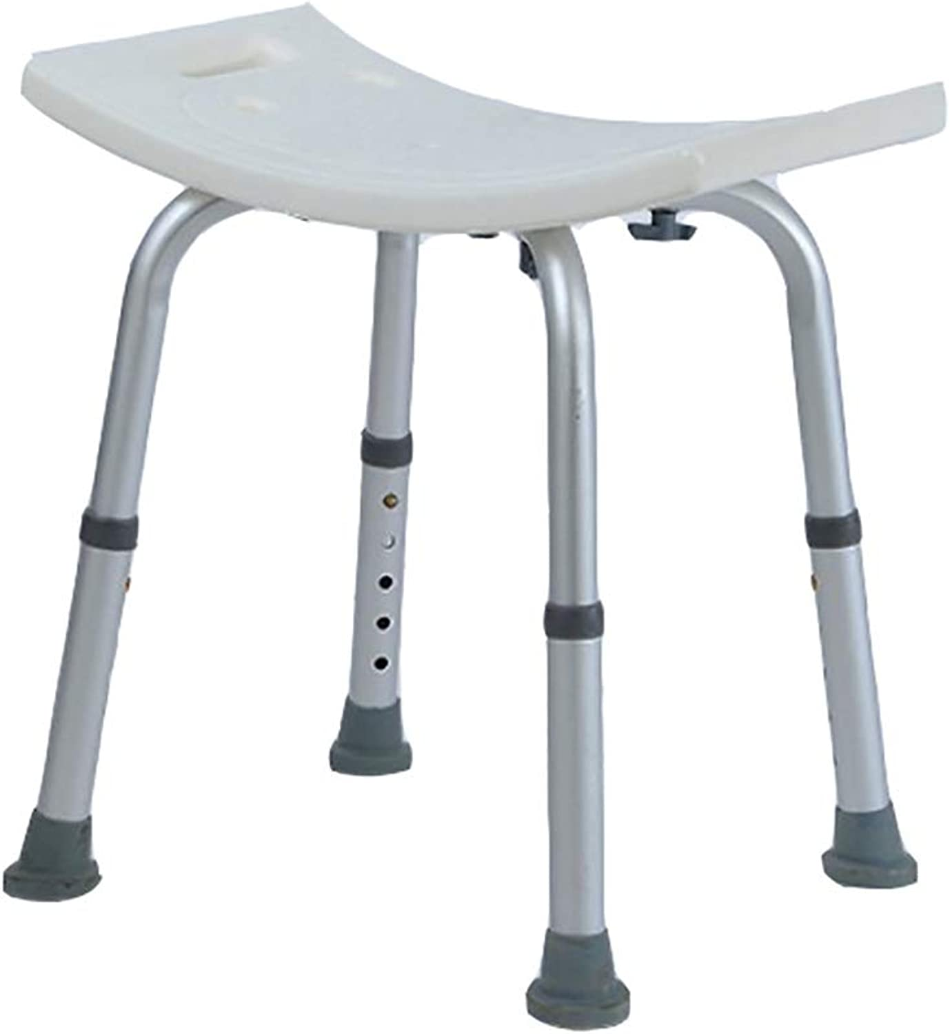 YYSXZY Shower Stool Bathroom Bench and Chair, Non-Slip Shower Stool No Backrest Shower Chair, Aluminum Alloy, 110KG Load-Bearing (color   White)
