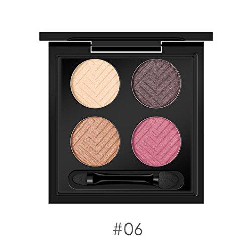 Fulltime 4 couleurs chatoyantes palette et maquillage fard à paupières cosmétique (F)