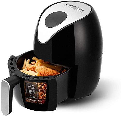 SHBV Freidora Inteligente multifunción 1000W 1.8L Freidora de Aire sin Aceite de Pollo Control de Temperatura LED de Salud para Cocina de Pizza Papas Fritas
