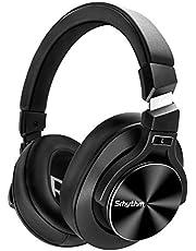 Noise Cancelling Koptelefoon Bluetooth 5.0,Srhythm NC75 Pro Over-ear Draadloze Hoofdtelefoon met 40h+ batterij,CVC8.0 Microfoon,Snellaadfunctie,Spraakoproep