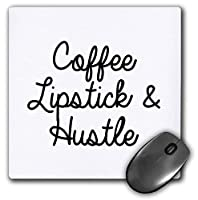 3dRose Mouse Pad Coffee Lipstick and Hustle - 8 by 8-Inches (mp_301747_1) [並行輸入品]