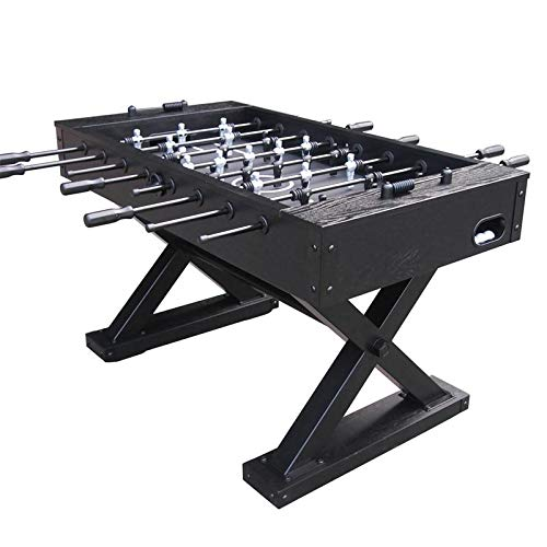 ZHRLQ Table Football Table, HDF 8 Par Standard Football Game Table, Suitable for Adult Game Luxury Villa Table Foot Game Foosball Table Bubble Hockey Poot Game Room Rod Tennis for Adults Ice Round TA