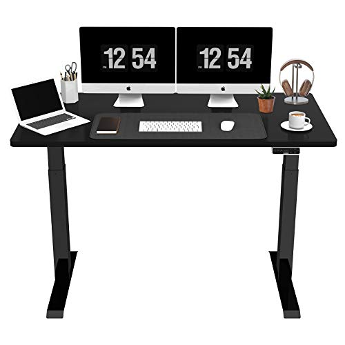 SANODESK EZ1 - Mesa de escritorio eléctrica regulable en altura con tablero telescópico de 2...