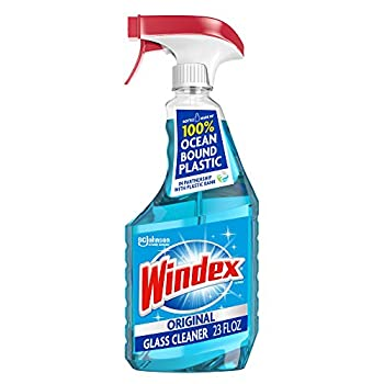 Windex Glass and Window Cleaner Spray Bottle Bottle Made from 100% Recycled Plastic Original Blue 23 fl oz