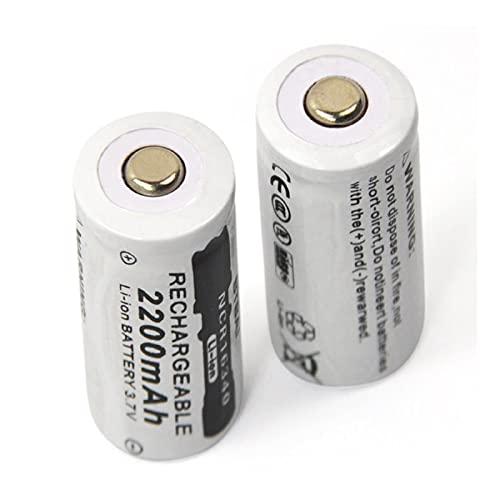 16340 batería 3,7 V 2500 mAh CR123A CR123 16340 batería de Litio Recargable Puntero láser Linterna LED batería de la lámpara de Cabeza (32mm*16mm, 8PCS)