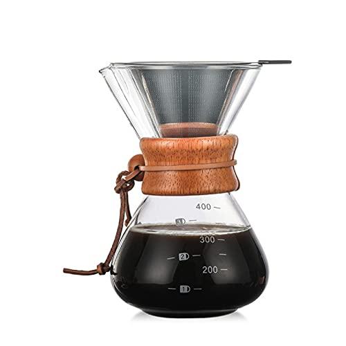 RONGXIANMA Kaffeekanne Glas Kaffeekanne Kaffeekanne Hitzebeständige Gießkanne Kaffeekanne Edelstahl Kaffeefilter