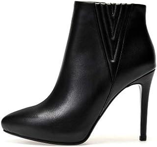 Precio por piso YAN Zapatos de tacón de Aguja para para para Mujer, botas Cortas Cortas de otoo Invierno, botas de Cuero con Cremallera Lateral de tacón Alto en Punta Zapatos de Vestir Elegantes Botines  el mejor servicio post-venta