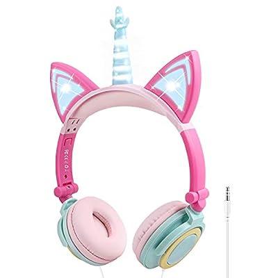 Unicorn Kids Headphones Girls Wired Headphones Over Ear
