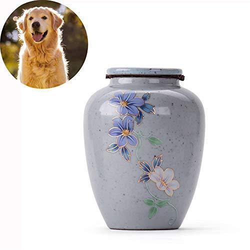 Urnas para Cenizas Adulto Gran Cremación Funeraria Restos Humanos Urna Conmemorativa Recuerdo Ataúd para Mascotas Latas Selladas De Cerámica Multifuncionales,A