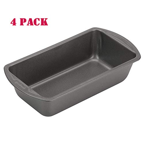 Good Cook 04025 4025 Loaf Pan, 8 x 4 Inch, Grey (2-pack)