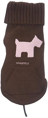 Hunter Hundepullover Scotty, Gr. 30, dunkelbraun/rosa