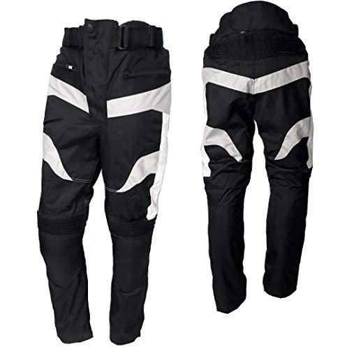 WinNet Pantaloni da per moto con protezioni su ginocchia e fianchi omologate (L)