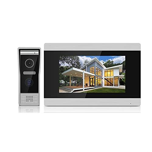 YCZDG Pantalla Táctil De 7 Pulgadas WiFi IP Video Intercom para Villa con Mini Receptor Inalámbrico, Soporte para Desbloquear Telefonía Remoto