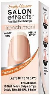 Sally Hansen Salon Effects French Mani Real Nail Polish Strips, Excusez Moi!, 32 Count