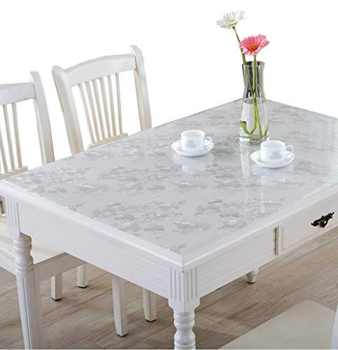 IYHUO PVC製 テーブルマット テーブルクロス デスクマット マット 長方形 正方形 防水 撥水 耐久 汚れ防止 サイズ選択可能 シルバー 80*135cm