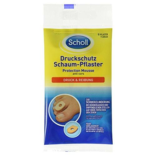 Scholl Druckschutz Schaum-Pflaster, 1 Packung - 9 Stück