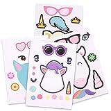 Howaf 24 Hojas Hacer un Unicornio Pegatinas para niños niñas Fiestas Infantiles Unicornio cumpleaños de niños Regalo piñata