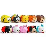 qinhuang 10 Unids / Set Mini Figuras Lindas De Mickey Minnie Donald Daisy Pluto Goofy Piglet Bear Chip Dale Doll, Niños con Caja
