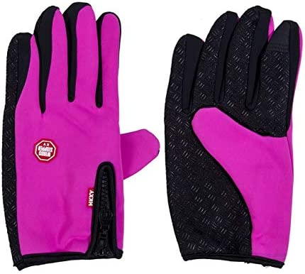 Touch Screen Windproof Outdoor Sport Gloves for Men Women Army guantes tacticos luva Winter Windstopper Waterproof Gloves - (Color: Red, Gloves Size: XL)
