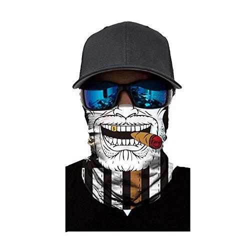 NINGSANJIN Face Shield Sturmhaube ,viele verschiedene Designs* Multiunktionstuch Maske Fishing Totenkopf Schal Skull Bandana Gesichtsmaske Halstuch Ski Motorrad Paintball Face Shields Maske (G)