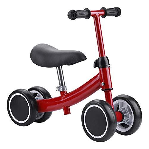 Bicicletas sin Pedales, Bebé Balance Bicicleta Mini Bicicleta Bebe Aprender a Caminar Montar a Caballo de Juguetes Bebes 1 y 3 años 4 Andador de Ruedas Regalo Elección (Rojo)