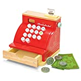 Le Toy Van - Wooden Honeybake Toy Cash Register | Role Play Toy | With Receipt, Opening Till Drawer And Play Money | Perfect For Supermarket, Food Shop or Cafe Pretend Play