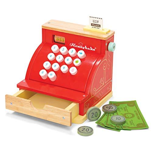 Honeybake Le Toy Van Tv295 Red Madera Caja registradora