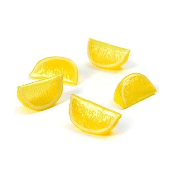 Hagao Artificial Fruit Yellow Lemon Block Wedge Slice Simulation Lifelike Fake for Home Party Kitchen Decoration Teaching Aids-10 pcs