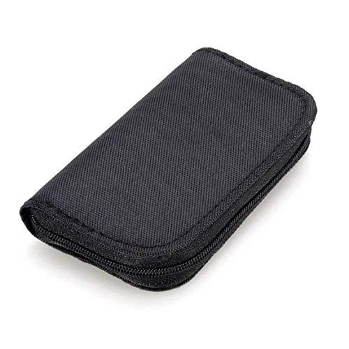 Nicetruc 22 Steckplätze Speicherkarten-Tasche wasserdichte Sd-kartenhalter Tragetasche Für Micro Sdhc Sdxc Tf SIM Cf-Karte-schwarz