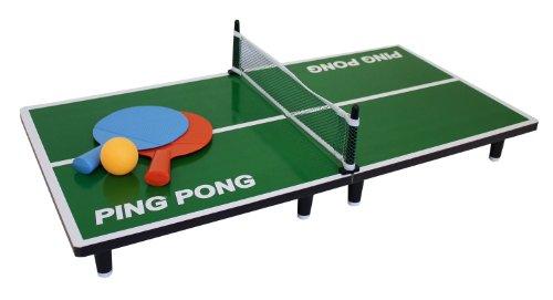 Idena 7440001 - Mini Tischtennis, inklusiv 2 Schläger und Ball, ca. 60 x 30 cm