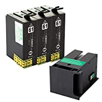 ICBK61 エプソン互換インクカートリッジ EPSON互換 ICBK61 ブラック3本+メンテナンスボックスPXMB3 1個 ベンチャートナー