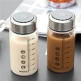 LBTM Taza de agua taza de viaje reutilizable taza de café taza de medición portátil taza de café taza de postre taza de camping al aire libre hogar cocina rosa pantalla inteligente traer regalos
