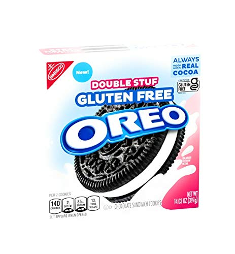 Oreo Gluten Free Double Stuf Sandwich Cookies - Family Size - 14.03 oz - Pack of 2
