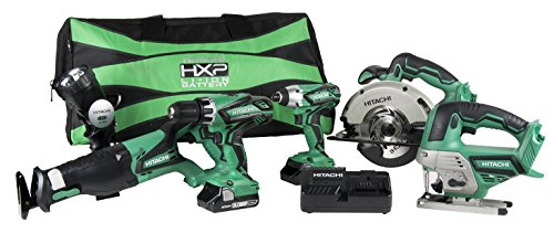 Buy Hitachi KC18DG6LPA 18V Cordless Combo Kit (6 Piece)