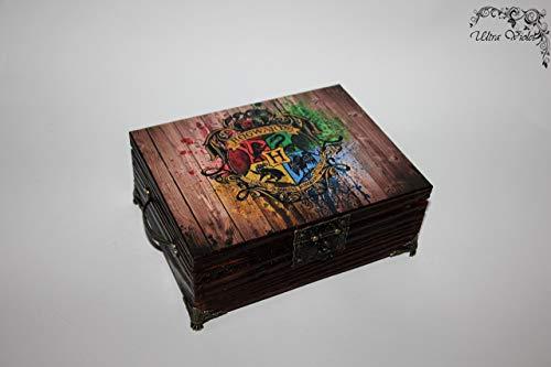 Exklusive Teebox,Tee, Tea, Teebeutel,Teekiste, wood, Harry Potter Heiligtümer des Todes,Hogwarts