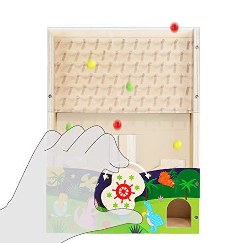 WFF Spielzeug Kinder-Korn-Spielzeug mit DREI Farben der Perlen pädagogisches Spielzeug for Kinder Hand-Auge-Koordination, logisches Denken Training Board-Spiel spielt (Color : 1 Piece)