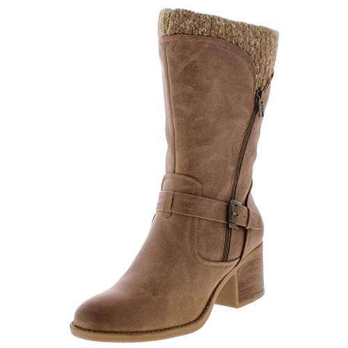 BareTraps Womens Weslin Closed Toe Knee High Cold Weather Taupe