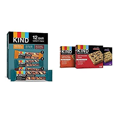 KIND Bars, Nuts and Spices Variety Pack, Gluten Free, Low Sugar