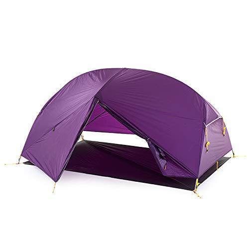 Naturehike Mongar Tienda de Mochilero de Silicona Ultraligera 20D para 2 Personas para Ciclismo, Senderismo, Acampada (20D Púrpura)
