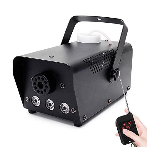 AIBOOSTPRO Nebelmaschine, 500W LED Licht Nebelmaschine mit Funkfernbedienung, tragbare Nebelmaschine, geeignet für Weihnachten, Halloween, Party, Hochzeitsbühne (Schwarz)