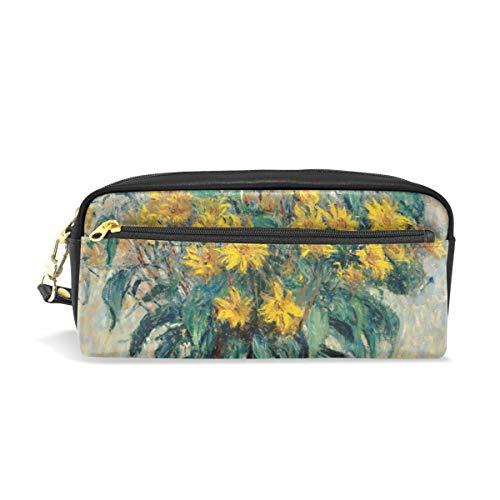 Emoya Federmäppchen Federmäppchen Tasche Monet Sonnenblumen Stationary Case Make-up Kosmetik Tasche