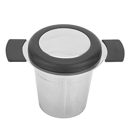 Zaraddia Filtro de té, Filtro de té de Acero Inoxidable Colador de infusor de Taza Accesorios de té con Tapa de Silicona