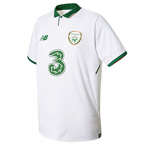 New Balance Offical FAI Merchandise Ireland Away Camiseta de Manga Corta, Niños, Blanco, Large